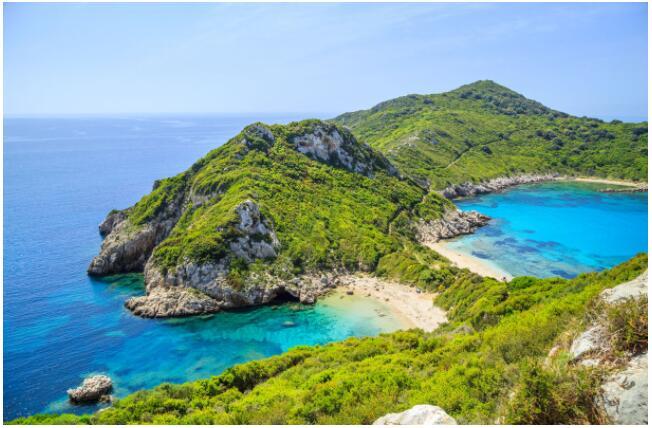 The green island of Corfu